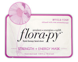 Florapy Floral therapy facial sheet Arnica Rose - Strength + Energy Mask
