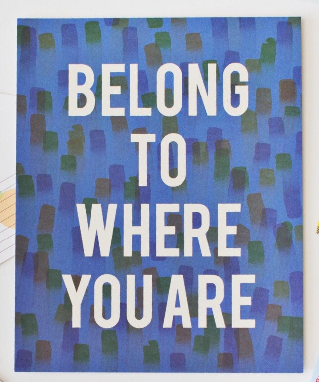 Belong To Where You Are 8x10 print
