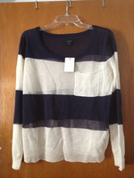 Lumiere Navy & White Sweater