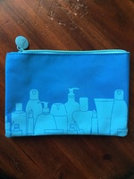 Ipsy blue cosmetic bag