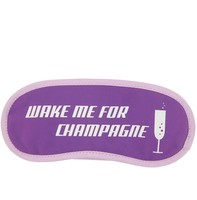 """Flight 001's exclusive """"Wake Me for Champagne"""" printed eye mask"""