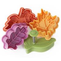 Set of Four Decorative Leaf Presses