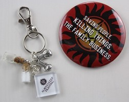 Supernatural-inspired keychain