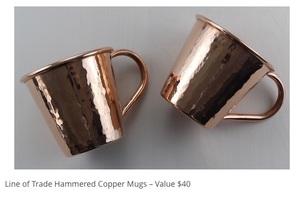 Set of 2 Copper Mugs