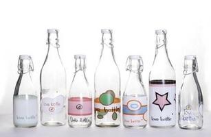Love Bottle 500ml Glass Water Bottle