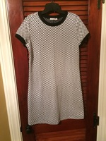 Le Lis shift dress in black and white