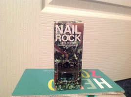 Nail Rock-Blue/Green Glitter