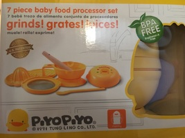 Piyo Piyo 7 piece baby food processor set