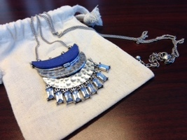 Amy Crescent Silver Necklace