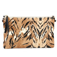 1951 Maison Francaise Clutch with Chain included in Tigre