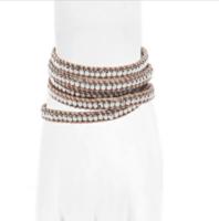 Bindy Wrap Bracelet - silver/natural