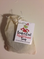 Lump of Coal peppermint soap