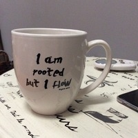 Mindfulness mug - I am rooted but I flow