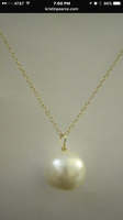 Kristin Pearce Designs large pearl pendant necklace