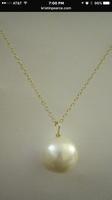 Kristin Pearce Designs large pearl pendant necklace