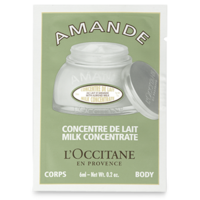 L'Occitane AMANDE Concentre De Lait Milk Concentrate Almond Body Cream Sample