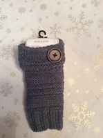 Fingerless gloves in grey