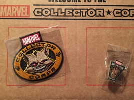 Guardians of the Galaxy pin and patch