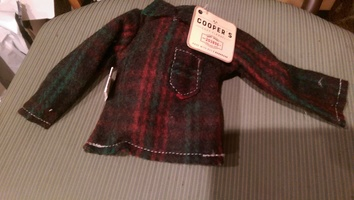 cooper's cozy flannel shirt Bottle toy barkmade