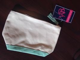 Cream & Mint Canvas Bag