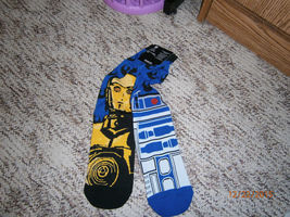 Loot Crate Exclusive STAR WARS R2-D2/ C-3PO Men's Crew Socks