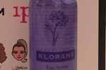 Klorane floral water makeup remover with soothing cornflower