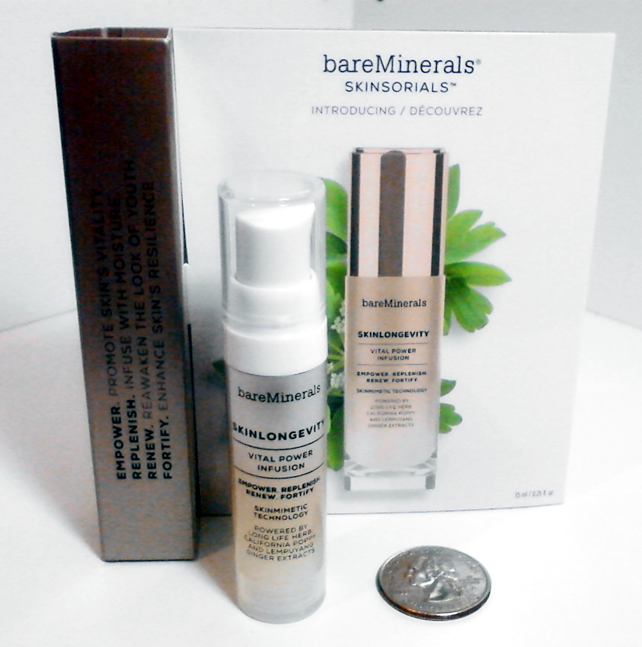 Bare Minerals SKINSORIALS SKINLONGEVITY Vital Power Infusion DELUXE SAMPLE SIZE