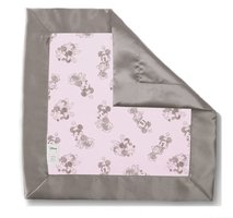 SwaddleDesigns Classic Disney Baby Lovie Blanket, Pastel with Taupe Gray Minnie
