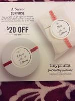 Tiny Prints $20 off code