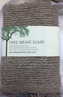 Marquet Fair Trade Fee a Weave Scarf - Tan
