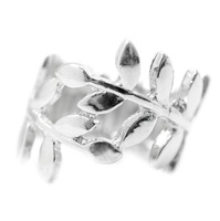 Silver Leaves Wrap Ring