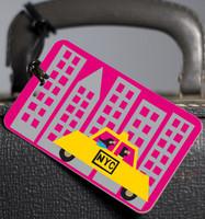 R. Nichols  NYC cab luggage tag
