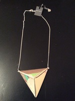 Jules Smith Silver Triangle Statement Necklace