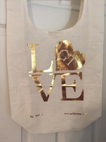 Golden Tote love bag