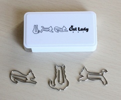 Cat-Shaped Paper Clip Set