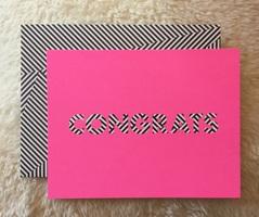 Congrats card and envelope