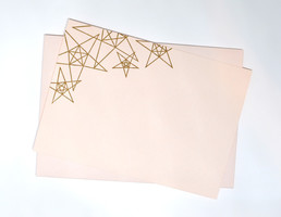 Gold Stars on Blush Letterpress Gold Stars on Blush Letterpress Note Cards Gold Stars on Blush Letterpress Note Card