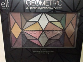 e.l.f. Geometric 32 piece eyeshadow pallette - black case