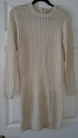 Ethereal Sweater Dress in Ivory (size small)