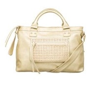 """""""Pink Cosmo"""" Gold Studded Satchel"""