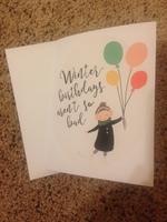 Winter Birthdays card