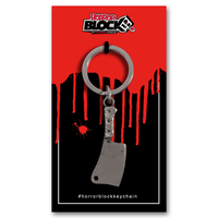 Horror Block Cleaver Keychain