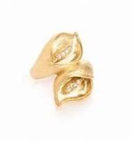 Calla Lily Simulated Diamond Ring - Rivka Friedman