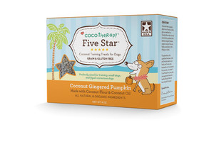 CocoTherapy Five Star Organic Coconut Gingered Pumpkin Training Treats