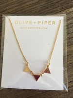 Olive +Piper Triangle Necklace