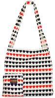 I Love Hearts Canvas tote