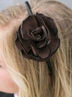 Soft Chocolate Brown Rosette Headband