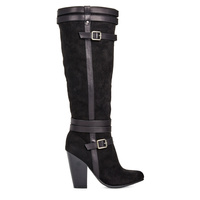 Reyna Black Boots - Size 7 (wide calf)