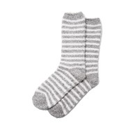 Richer Poorer Striped Fuzzy Socks