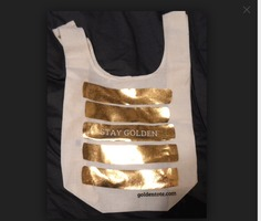 Golden Tote Canvas Bag (March Style)